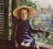 «Mädchen mit Sonnenhut» von Marie Louise Bion. Daniel Studer ersteigerte das Bild 2012 für sein Museum in einer Auktion. (Bild: PD)