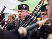Aim Rahmen der Highland Games finden jeweils die Schweizer Meistersschaften für Pipes and Drums statt. (Bild: Hanspeter Schiess - 2. September 2017)