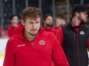 Damien Brunner bleibt noch etwas länger in Biel (Bild: KEYSTONE/MARCEL BIERI)