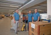 Die Köpfe hinter dem Familienunternehmen (von links): Marcel, Patrick und Andi Gabriel. (Bild: Corinne Glanzmann, Ennetbürgen, 21. August 2019)