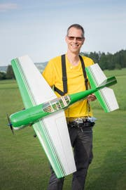 Christian Aberer, Präsident des Vereins Modelfluggruppe Mosnang. (Bild: Urs Bucher)