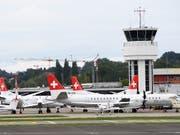 Nichts geht mehr: Am 29. August 2018 blieben die Flieger der Berner Airline SkyWork für immer am Boden (Archivbild). (Bild: KEYSTONE/ANTHONY ANEX)