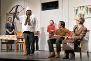 Die Theatergesellschaft Buochs hatte mit dem Stück «Die Schweizermacher» 29 Mal volles Haus. (Bild: Romano Cuonz, Buochs, 12.1.2019)