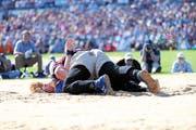 Packender Schlussgang zwischen Christian Stucki und Joel Wicki.(Bild: swiss-image.ch/Photo/Andy Mettler)