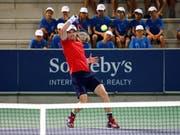 Auch im Einzel wieder erfolgreich: Andy Murray beim Rafa Nadal Open auf Mallorca im Einsatz (Bild: KEYSTONE/EPA EFE/CLARA MARGAIS)