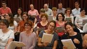 Der Tri-Event-Chor hat die Probearbeiten für die drei Konzerte bereits im Juni aufgenommen. (Bild: PD)