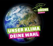 «Eine diplomatische Meisterleistung»: Erstmals überhaupt in ihrer Geschichte haben die Grünen ein nationales Plakatsujet. (Bild: Grüne)