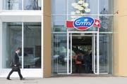Der Emmi-Hauptsitz an der Landenbergstrasse in Luzern. (Anthony Anex/Keystone)
