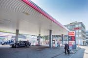 OsterwalderAG in St.Gallen: An der Oberstrasse wird die neuartige Tankstelle entstehen. (Bild: Urs Bucher)