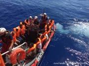 Nicht nur Kriege und Perspektivlosigkeit haben Einfluss auf die Migration, sondern auch Klimaveränderungen (Archivbild vom Mittelmeer vor der libyschen Küste). (Bild: KEYSTONE/EPA SOS MEDITERRANEE/AVRA FIALAS HANDOUT)