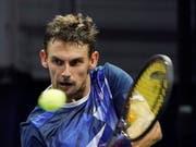 Henri Laaksonen ist der Schweizer Teamleader in der Davis-Cup-Barrage gegen die Slowakei (Bild: KEYSTONE/EPA/RAY STUBBLEBINE)