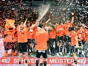 Die Kadetten Schaffhausen steigen erneut als Favoriten in die NLA-Meisterschaft (Bild: KEYSTONE/WALTER BIERI)