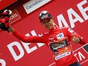 Der Belgier Dylan Teuns vom Team Bahrain-Merida übernahm nach der 6. Etappe der 74. Spanien-Rundfahrt das rote Leadertrikot (Bild: KEYSTONE/EPA EFE/JAVIER LIZON)