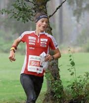 Simona Aebersold an der Wald-WM in Norwegen, wo sie mit der Staffel Silber und in der Langdistanz Bronze gewinnt. Bild: Remy Steinegger/Swiss Orienteering (Sarpsborg, 17. August 2019.)