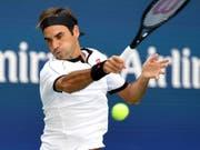 Wie aus einem Guss: Bei Roger Federer klappte am Freitag gegen Dan Evans alles nach Wunsch (Bild: KEYSTONE/FR171690 AP/SARAH STIER)