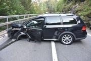 Auf der Brünigstrasse ereignete sich am Freitagabend ein Verkehrsunfall. (Bild: PD)