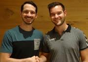 Wurden neu gewählt: David Bär (links), der Präsident des KTV Altdorf, mit dem Vorstandsmitglied Marc Vollenweider. (Bild: PD)