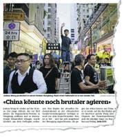 Im Juni 2019 gab Joshua Wong unserer Zeitung ein Interview, am Freitag nun wurde er erneut verhaftet. (Bild: Bildausriss)