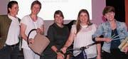 Event-Initiantin Simone Mächler-Fehr, Barbara Tschannen, Susanna Peng-Hensel, Sarah Stieger und Sandra Gschwend (v.l.) gaben spannende Einblicke in ihr Leben und ihren Berufsalltag. (Bild: Cécile Alge)