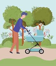 Vaterschaftsurlaub: Mit den Rezessionsängsten verschärft sich die politische Opposition. (Quelle: Getty)