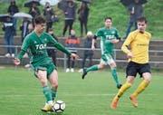 Der FC Diessenhofen (in Grün) gegen den FC Schaffhausen 2 in Diessenhofen. Bild: Mario Gaccioli (14.April 2019)