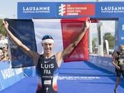 Vincent Luis ist erstmals Triathlon-Weltmeister (Bild: KEYSTONE/LAURENT GILLIERON)