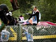 Das Auto-Wrack des in Francorchamps tödlich verunglückten Franzosen Anthoine Hubert (Bild: KEYSTONE/EPA ANP/REMKO DE WAAL)