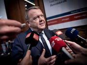 Dänemarks ehemaliger Ministerpräsident Lars Løkke Rasmussen (im Bild) ist am Samstag von seinem Posten als Chef der bürgerlich-liberalen Oppositionspartei Venstre zurückgetreten. (Bild: KEYSTONE/EPA RITZAU SCANPIX/LISELOTTE SABROE)