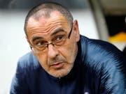 Noch nicht an der Seitenlinie: Juventus-Trainer Maurizio Sarri laboriert noch an den Folgen einer Lungenentzündung (Bild: KEYSTONE/AP/MICHAEL PROBST)