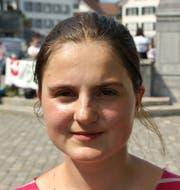 Annina Rohrer, Klimagruppe Nidwalden. Bild: Primus Camenzind (Stans, 31. August 2019)