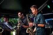Die Zuger Altstadt stand in den vergangenen Tagen ganz im Zeichen des Jazz'. Hier abgebildet: die Musikschule Zug presents talents. (Bild: Stefan Kaiser, Zug, 30. August 2019)