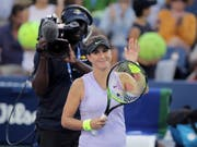 Keine Night Session, dafür im Achtelfinal: Belinda Bencic am US Open (Bild: KEYSTONE/AP/CHARLES KRUPA)