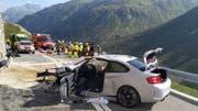 Eines der Autos nach dem Unfall. (Bild: Kantonspolizei Uri, 31. August 2019)