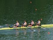 Der Schweizer Vierer-ohne überzeugt an den Weltmeisterschaften (Bild: KEYSTONE/Swiss Rowing)