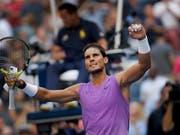 Einfacher Weg in die Achtelfinals: Rafael Nadal (Bild: KEYSTONE/FR171643 AP/EDUARDO MUNOZ ALVAREZ)