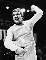 Thomas Bach bei seinem Olympiasieg als Fechter 1976 in Montreal (Bild: IOC)