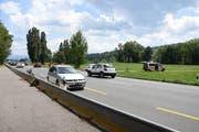 Auf der Burietstrasse gilt Tempo 80. Dort kam es am Samstagnachmittag zur Kollision. (Bild: KAPO SG)