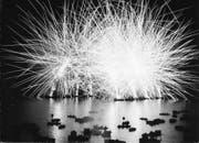 Undatierte Fotografie vom Seenachtsfest Luzern, wahrscheinlich 1950er oder 1960er Jahre. (Bild: Stadtarchiv, Fotograf Hans Blättler, Luzern)