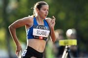 Delia Sclabas bleibt auch nach dem Gewinn des EM-Titels in Topform. (Bild: Keystone/Anthony Anex)