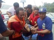 Bei mehreren Bootsunglücken in den Philippinen sind mindestens 25 Menschen ums Leben gekommen. Sechs werden noch vermisst. (Bild: Keystone/EPA PHILIPPINE COAST GUARD/PHILIPPINE COAST GUARD HANDO)