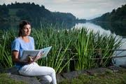 Der Rotsee spielt im Kinderbuch von Caroline Wüst eine wichtige Rolle. (Bild: Boris Bürgisser, Luzern 2. August 2019)