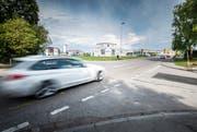 Die Seetalstrasse wird zwischen dem Seepark- und dem Ziil-Kreisel saniert und für die Busspur verbreitert. (Bild: Andrea Stalder)