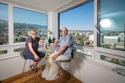 Hans und Eva Meier wohnen im höchsten Gebäude von Rorschach. (Bilder: Benjamin Manser)