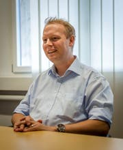 Anick Volger ist seit 2016 Präsident der Ausserrhoder SVP. Bild: Claudio Weder