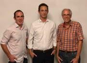 Beda Schlumpf, Rainer Leemann und Gilbert Chapuis (von links). (Bild: PD)