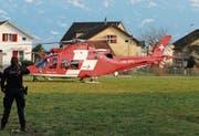 Kommt nur in Notfällen zum Einsatz – die Schweizerische Rettungsflugwacht Rega. Bild: Archiv/Hildegard Bickel