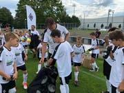 Kinder und Jugendliche der Jahrgänge 2006 bis 2012 trainieren während dreier Tage mit Ausbildnern beider Vereine. (Bild: PD)
