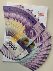 Eine Spende dieser Grössenordnung ist beim Tierheim in Basel äusserst ungewöhnlich: 20'000 Franken überreichte ein Unbekannter am Freitag in bar. (Bild: Tierheim an der Birs/TBB)