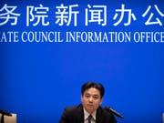 Yang Guang, Sprecher des für die chinesische Sonderverwaltungszonen Hongkong und Macau zuständigen Büros des Staatsrats, richtet eine scharfe Warnung an die Protestbewegung in Hongkong. (Bild: KEYSTONE/AP/MARK SCHIEFELBEIN)