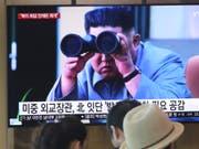 «Eine angemessene Warnung»: Nordkoreas Machthaber Kim Jong Un über die jüngsten Raketentests seiner Militärs. (Bild: KEYSTONE/AP/AHN YOUNG-JOON)
